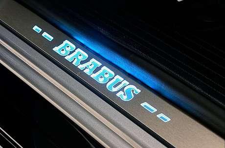 Накладки на пороги (с подсветкой) Brabus для Mercedes-Benz